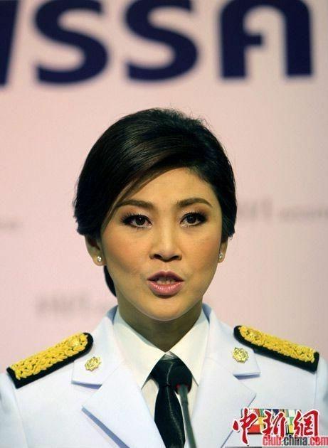 泰国美女总理英拉老公真面目首度曝光(组图)-商