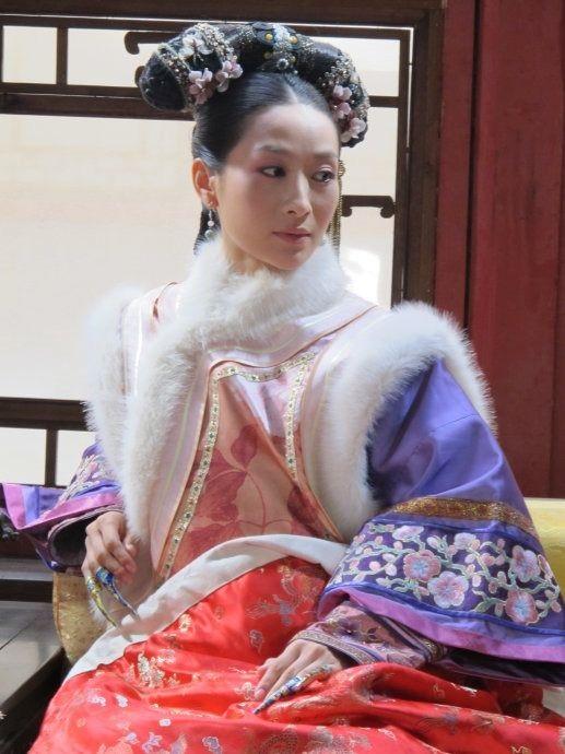 清朝妃子手绘