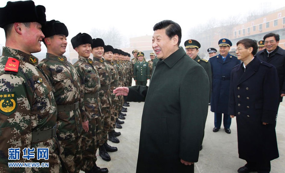 习近平近日视察海陆空三军部队照片