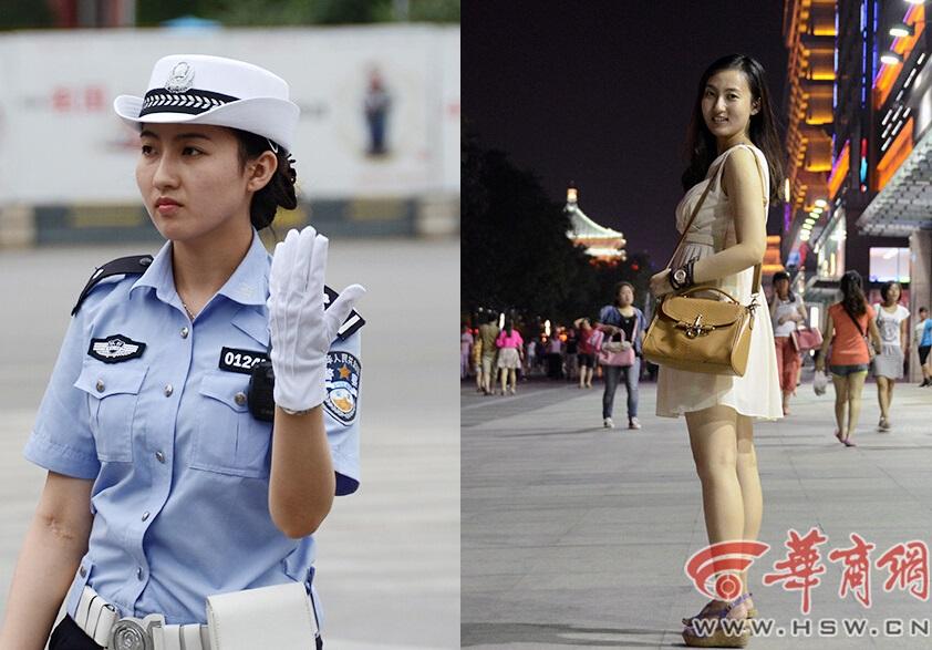 网曝:西安最美女交警 生活私照曝光 科技频道
